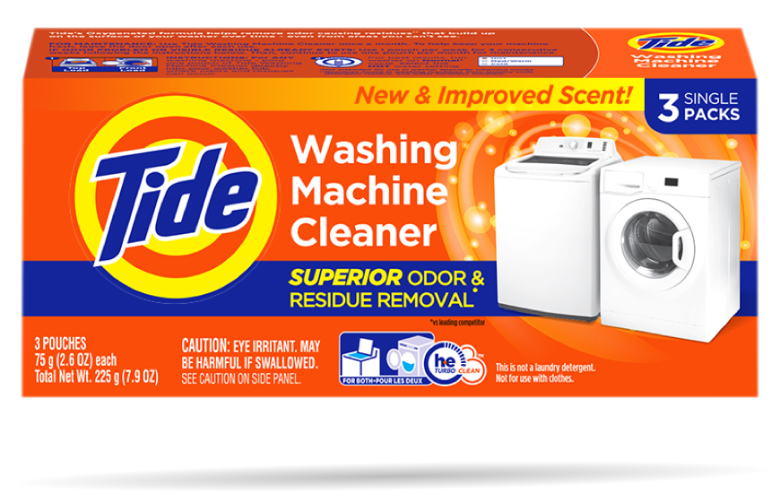 New & improved scent tide washing machine cleaner